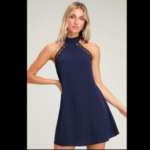 Lulus Any Sway, Shape, or Form Navy Blue Dress